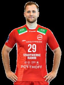 Marian Orlowski vom ASV Hamm-Westfalen in der Saison 2020/21