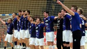 DRHV-Jubel nach dem Heimsieg und dem damit verbundenen Klassenerhalt gegen den ASV Hamm-Westfalen Saison 2020/21