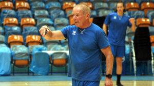 DRHV-Trainer Uwe Jungandreas beim Trainingsauftakt 2021/22