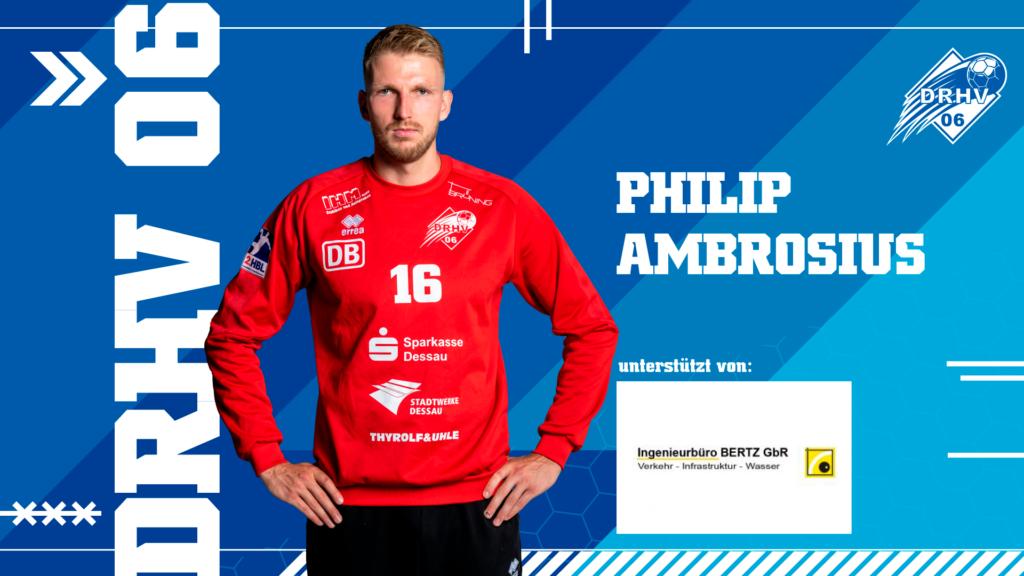 Werbebild für Spielerpatenschaften - Philip Ambrosius