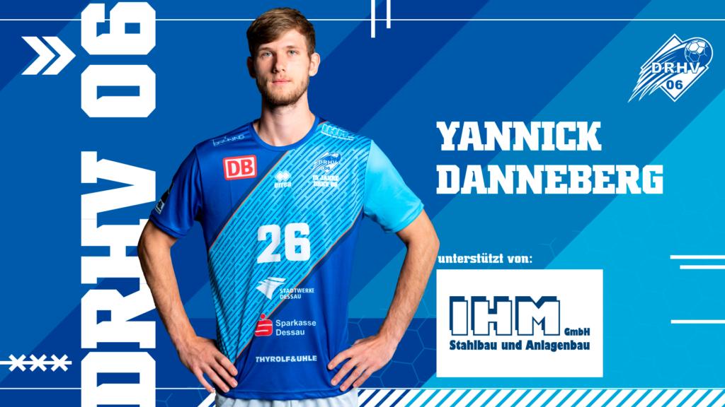 Werbebild für Spielerpatenschaften - Yannik Danneberg