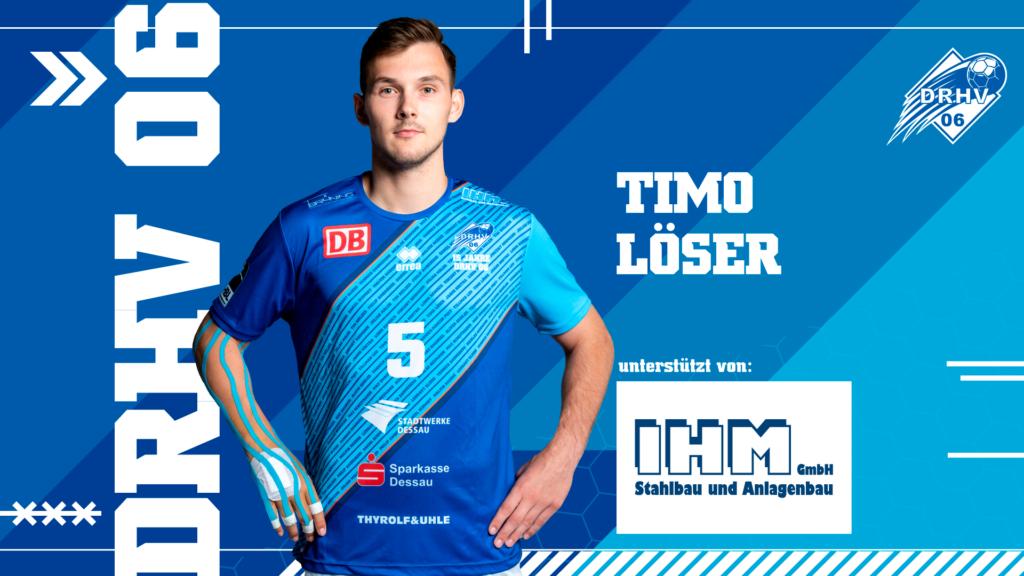Werbebild für Spielerpatenschaften - Timo Löser