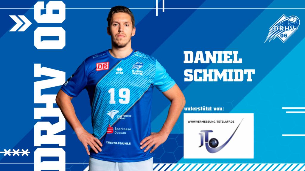 Werbebild für Spielerpatenschaften - Daniel Schmidt